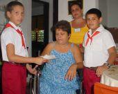 Margarita ejercico su derecho al voto
